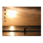 Fisherman Against the Sunset Postcard