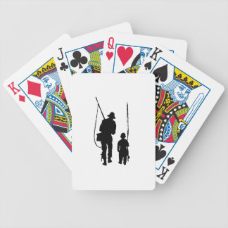 Fisherman and Child Silhouette Bicycle Card Decks