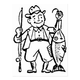 Fisherman and His Catch Postcard