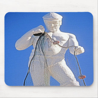 Fisherman and Nets (1) Mouse Pad