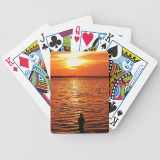 fisherman and sunset deck of cards