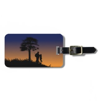 Fisherman at Dusk Tag For Bags