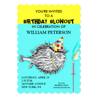 FISHERMAN BIRTHDAY PARTY INVITATIONS