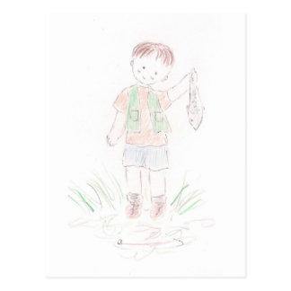 Fisherman Boy Postcard