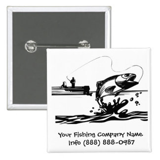 Fisherman Button for Fishing Guides or Supplies