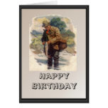 Fisherman by the river card