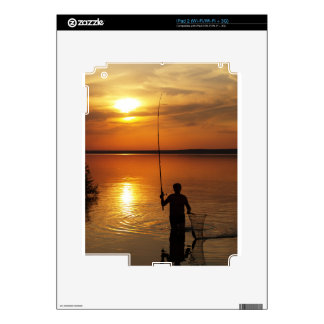 Fisherman catches fish by spinning iPad 2 skins