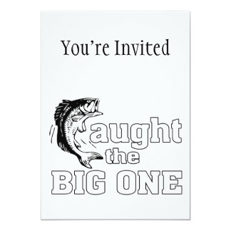Fisherman Caught The Big One 5x7 Paper Invitation Card