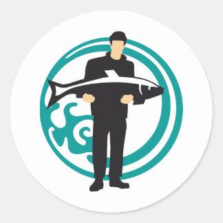 fisherman classic round sticker