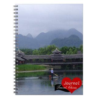 Fisherman, Cormoran Fishing, China (Notebook) Spiral Notebook