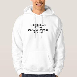 Fisherman Deadly Ninja by Night Hooded Sweatshirt