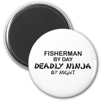 Fisherman Deadly Ninja by Night 2 Inch Round Magnet