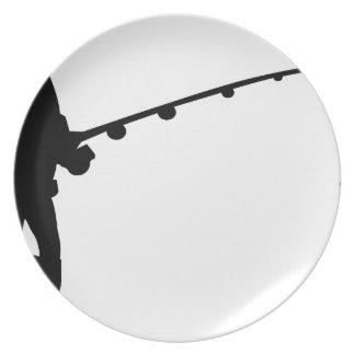 fisherman fishing melamine plate