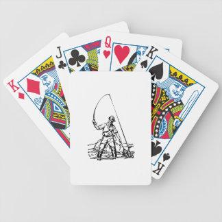 Fisherman Fishing Bicycle Poker Cards