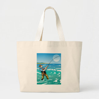 fisherman fishing surf casting canvas bags