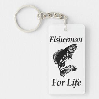 Fisherman For Life Keychain