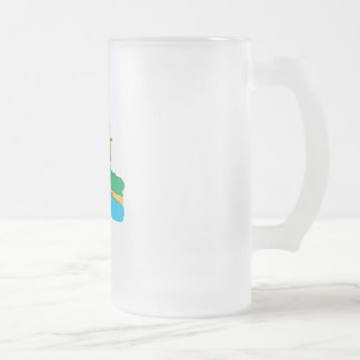 Fisherman Frosted Glass Beer Mug
