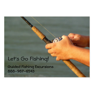 Fisherman Holding Fishing Rod Business Card