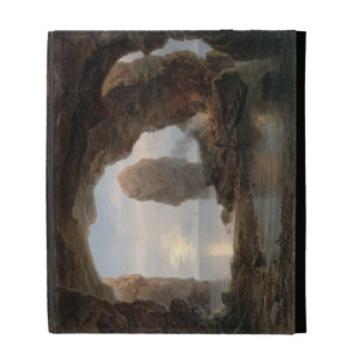 Fisherman in a Grotto, Helgoland, 1850 (oil on can iPad Case