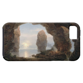 Fisherman in a Grotto, Helgoland, 1850 (oil on can iPhone SE/5/5s Case
