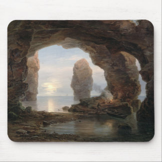 Fisherman in a Grotto, Helgoland, 1850 (oil on can Mouse Pad
