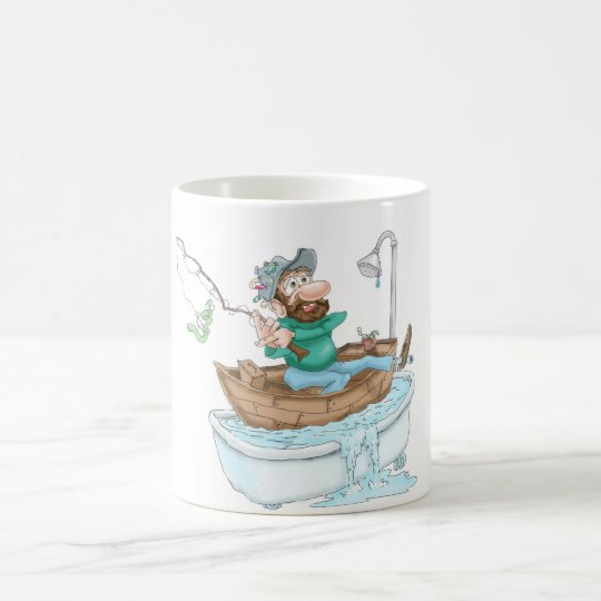 Fisherman in a tub coffee mug
