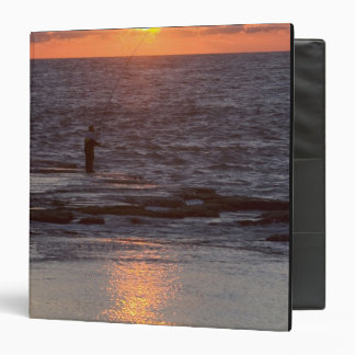 Fisherman in Byblos at sunset, Lebanon 3 Ring Binder