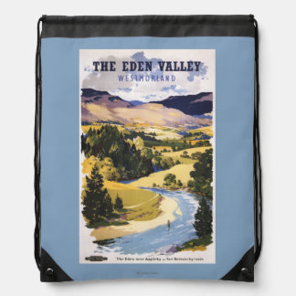 Fisherman in the Eden Valley Drawstring Backpack
