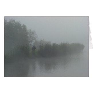 Fisherman in the fog card