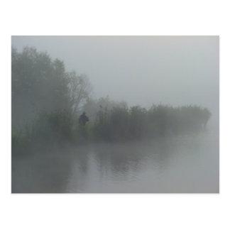 Fisherman in the fog postcard