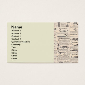 Fisherman Lures Antique News Advertising Business Card