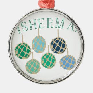 Fisherman Metal Ornament