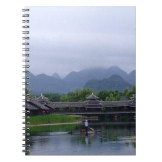 Fisherman & Mountains (Notebook) Notebook