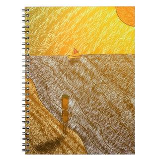 Fisherman Notebook Sunset