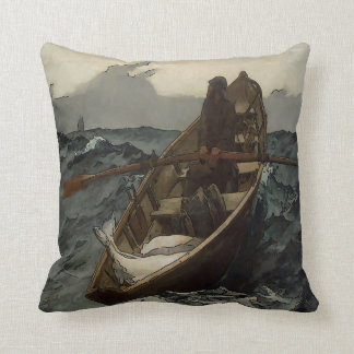 Fisherman, Old Man Throw Pillow