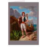 Fisherman on Amalfi Coast by Ebert Greeting Card
