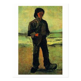 Fisherman on the Beach, Vincent van Gogh Postcard