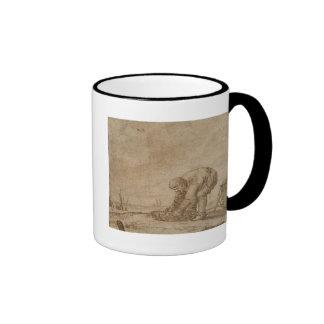 Fisherman on the Sea Shore, 1623 Ringer Coffee Mug