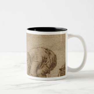 Fisherman on the Sea Shore, 1623 Two-Tone Coffee Mug