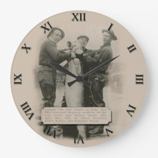 Fisherman Post Card Clock - Vintage 1935