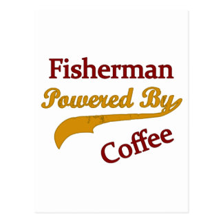 Fisherman Powered By Coffee Postcard