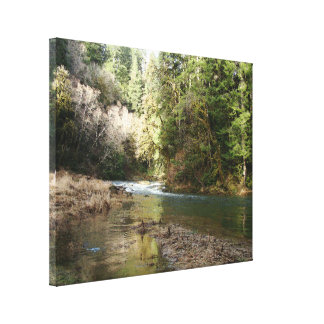 Fisherman River Steelhead Trout Fly Fishing Rapids Canvas Print