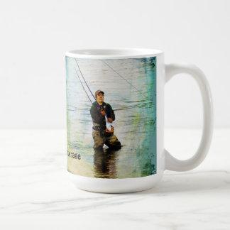 Fisherman & Rod Fishing Outdoor Sports Mug