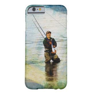 Fisherman & Rod Fishing Outdoors Design Barely There iPhone 6 Case