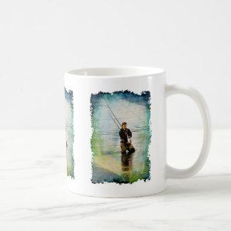 Fisherman & Rod Fishing Outdoors Design Coffee Mug