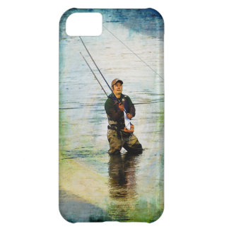 Fisherman & Rod Fishing Outdoors Design iPhone 5C Cover