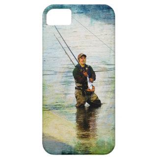 Fisherman & Rod Fishing Outdoors Design iPhone SE/5/5s Case