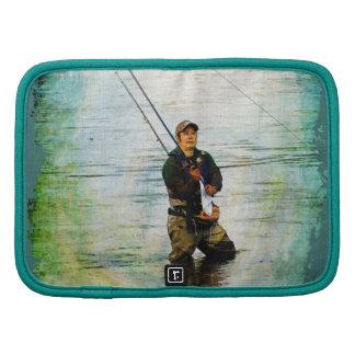 Fisherman & Rod Fishing Outdoors Design Organizer