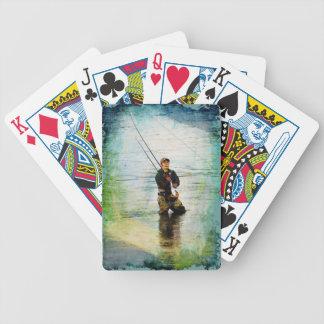 Fisherman Rod Fishing Outdoors Design Bicycle Poker Deck