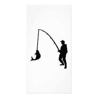 Fisherman rod customized photo card